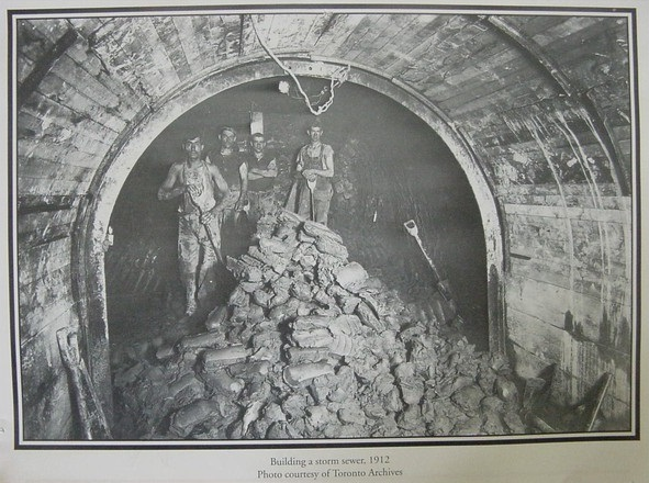 Building a StormSewer - 1912