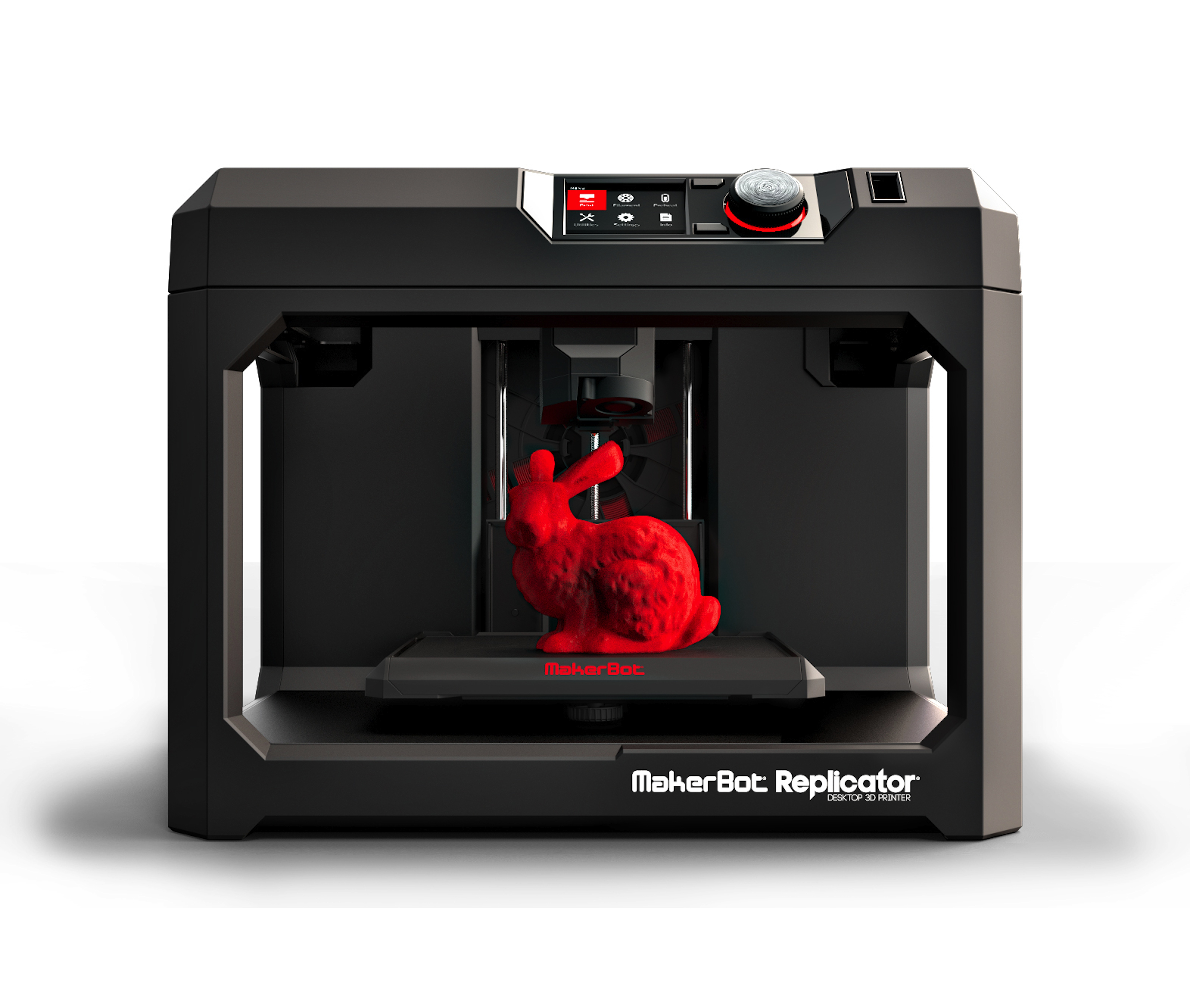 3d printer with a printed rabbit on it