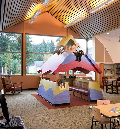 Kids area of library