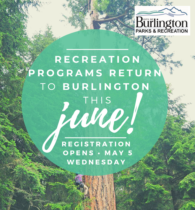 Recreation programs return to Burlington June 2021